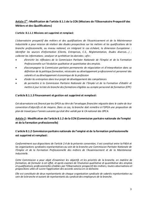 Modification De Qualification Professionnelle by Idcc 2272 Avenant 28 Du 20 D 233 Cembre 2016 Formation