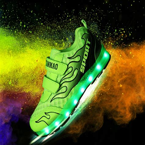 light up sneakers for youth children boys glowing sneakers kids lights up shoes
