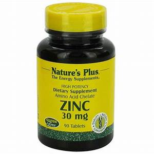Nature U0026 39 S Plus Zinc 30 Mg - 90 Tablets