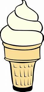 Vanilla Soft Serve Ice Cream Cone Clip Art at Clker.com ...