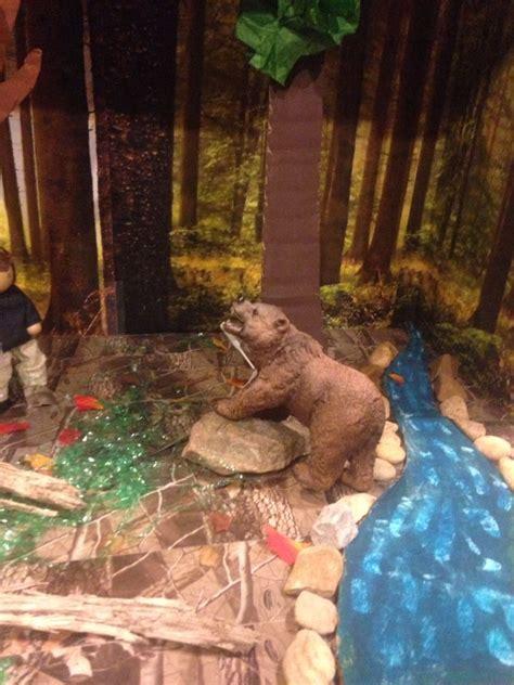 sign   beaver diorama arts  crafts  cooking