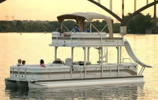 Double Deck Pontoon Boats with Slide