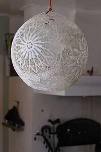 Fabriquer Un String : tutorial make lamp out of doilies diy g r lampa av ~ Zukunftsfamilie.com Idées de Décoration