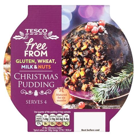 tesco free from christmas pudding 454g groceries tesco