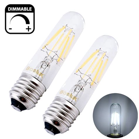 dimmable t10 tubular led filament light bulb e26 vintage