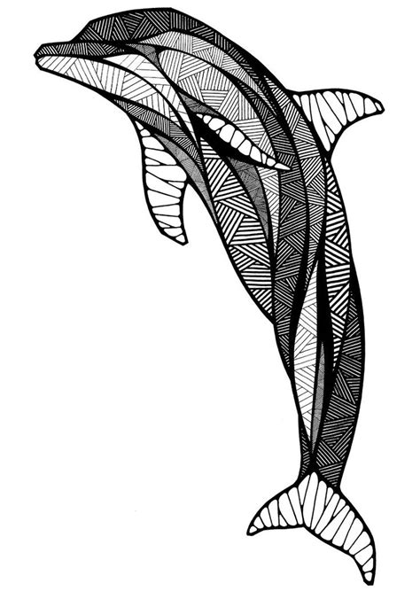 dolphin | Zentangle Fish | Pinterest | Dolphins, Graphics