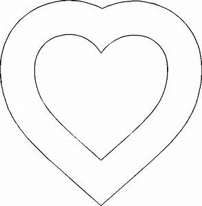 Heart Template - Free Printable - Download