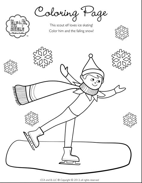 Elf On The Shelf Printable Coloring Pages 2228181