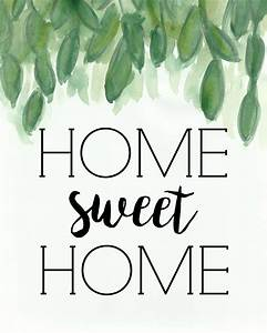 Home Sweat Home : home sweet home free printable miss homebody ~ Markanthonyermac.com Haus und Dekorationen