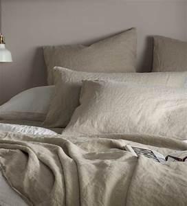 Natural, 100, Linen, Bedding, Collection