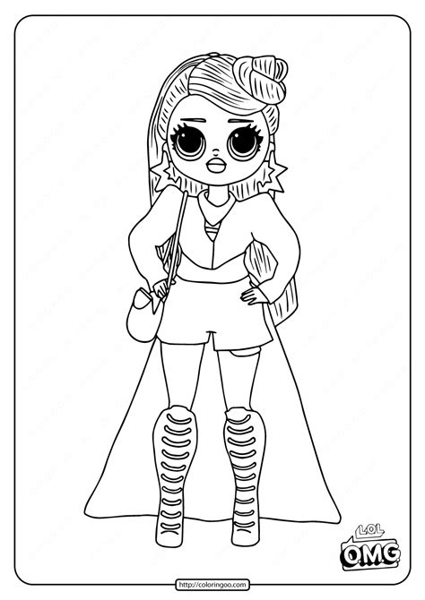 omg fashion doll  independent coloring page