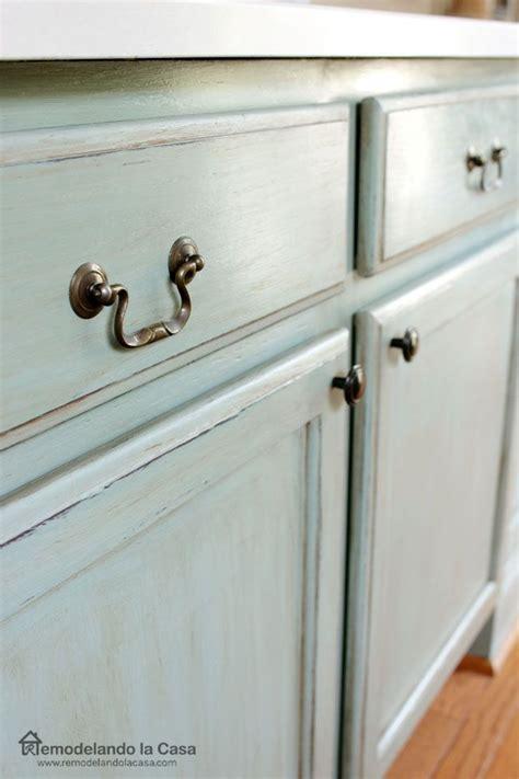 kitchen cabinet paints and glazes kitchen island painted ascp duck egg blue chalk paint 7896