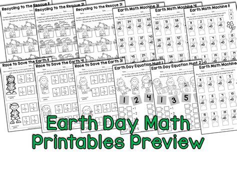 earth day math worksheets for grade homeshealth info