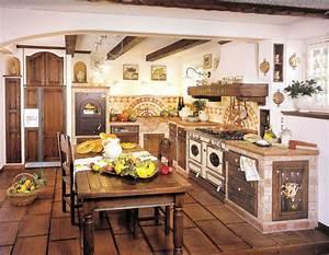 30 cucine in muratura rustiche dal design classico for Cucina in muratura rustica foto