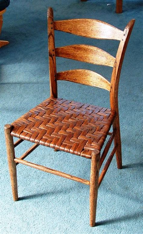 appalachian style ladder back chair with woven seat