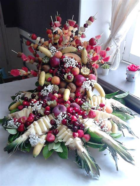 decoration de corbeille pour mariage deco fruit exotique