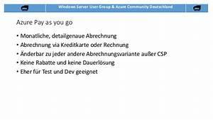 Paymentsolution Rechnung : azure lizensierung und abo 39 s f r einsteiger ~ Themetempest.com Abrechnung