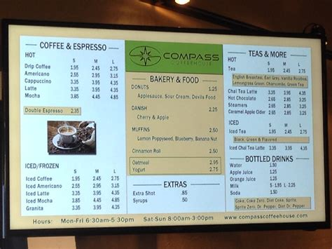 Browse the menu, view popular items, and track your order. Compass Coffeehouse Edmond, OK: I'm Working Here