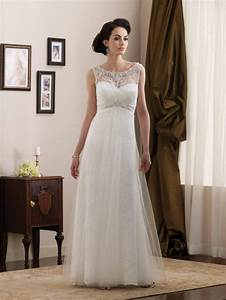 Simple lace wedding gown style ipunya for Simple lace wedding dress