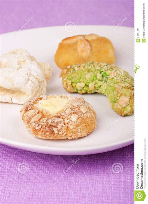 cuisine sicilienne traditionnelle pâtisserie sicilienne traditionnelle d 39 amande image stock