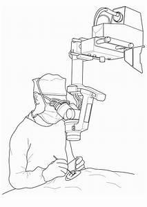 Malvorlage, Arzt, -, Operation