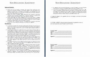 non disclosure agreement template by agreementstemplatesorg With financial non disclosure agreement template