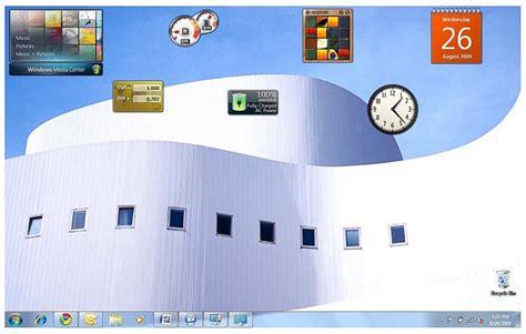 gadgets bureau windows 7 windows vista battery sidebar gadget