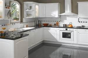Cuisine Repeinte En Blanc : 20 id es pour une belle cuisine en blanc de vos r ves ~ Melissatoandfro.com Idées de Décoration