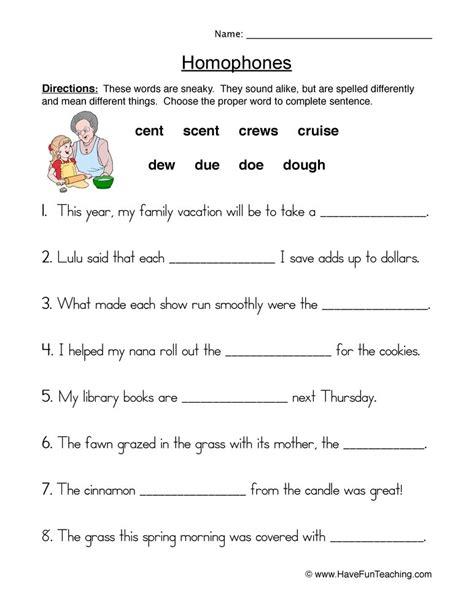 homophones worksheets for grade 2 homophones worksheets have fun teaching