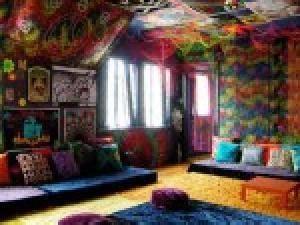 chambre hippie aménagement déco chambre hippie