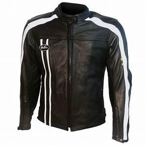 Blouson Moto Vintage Femme : blouson moto pour femme en cuir mitsou vintage noir et blanc tech2roo ~ Melissatoandfro.com Idées de Décoration
