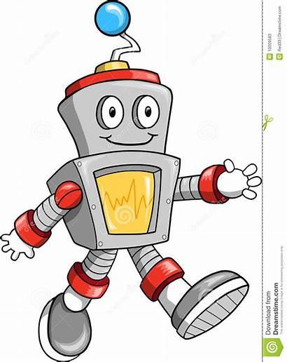 Robot Illustrazione Vecteur Vettore Vectorillustratie Roboter Vektorabbildung