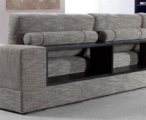 Brown And Grey Sofa by Anthem Grey Brown Fabric Modern Sectional With Wood