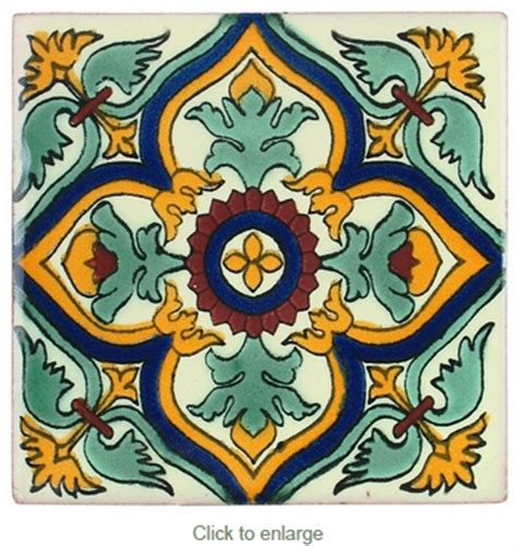mexican talavera tile 4x4 pp2184 15 hand painted tiles