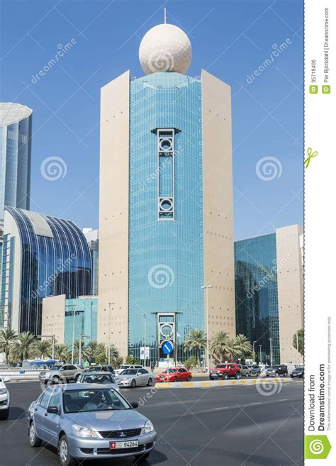 bureau emirates etisalat office building abu dhabi editorial photo image