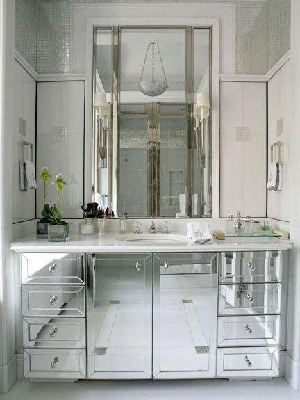 Inset Bathroom Mirror by Mirrored Vanity Design Ideas