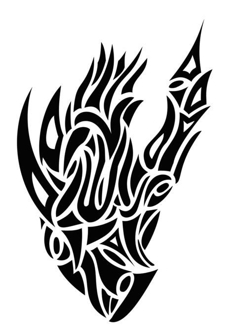 Tribal Heart Tattoo PNG | PNG Mart