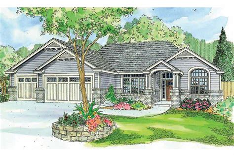 Ranch House Plan With Craftsman Detailing