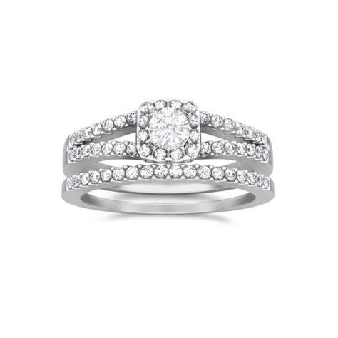 unique wedding ring bridal set on jeenjewels
