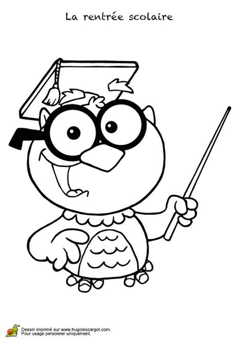 cap cuisine programme coloriage maitre hibou rentrée scolaire hugolescargot com
