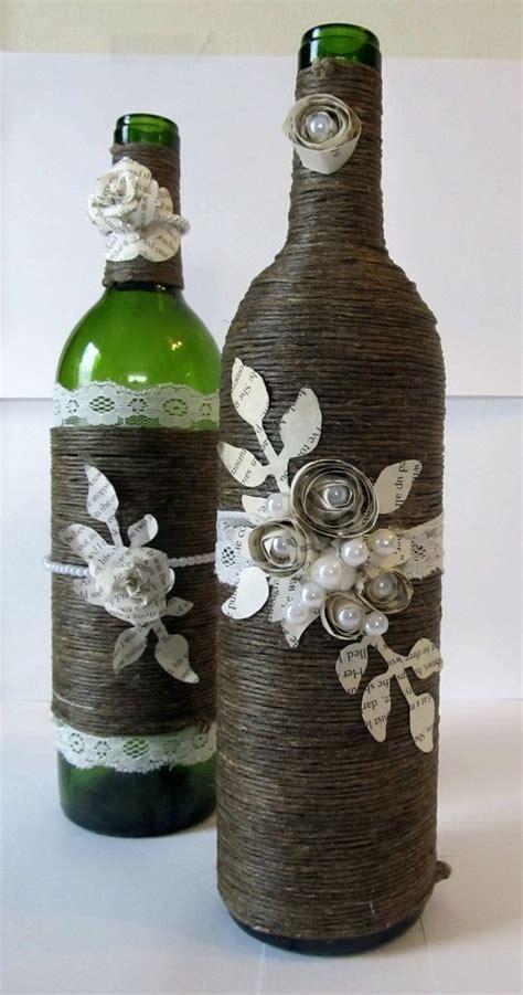 decorative wine bottles ideas 25 best ideas about twine wine bottles on