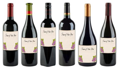 printable wine labels   customize lovetoknow
