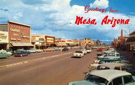 mesa az the funset strip greetings from mesa arizona
