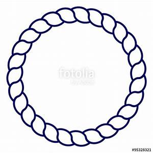 """""""Circle blue navy rope vector line art isolated"""" Stock ..."""