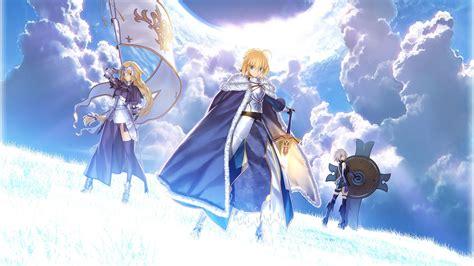 type moon saber joan  arc anime girls wallpapers hd