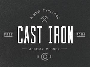 cast iron free font freebiesbug With iron on letters font style