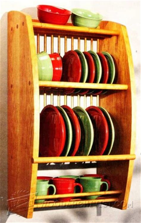 plate rack shelf plans woodarchivist