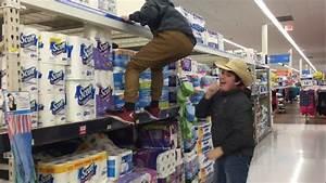 Climbing, On, Top, Shelf, At, Walmart