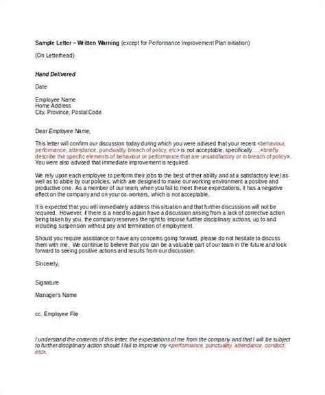sample warning letter  employee  rude behaviour