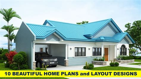 Home Design Free : Free Home Plans And Layout Design For 10 Beautiful Houses